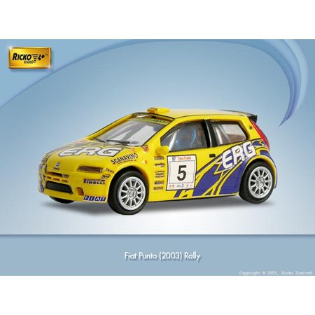 HO 2003 Fiat Punto Rally, Yellow - Buy HO 2003 Fiat Punto Rally, Yellow - Purchase HO 2003 Fiat Punto Rally, Yellow (Ricko International Limited, Toys & Games,Categories,Play Vehicles,Trains & Railway Sets)