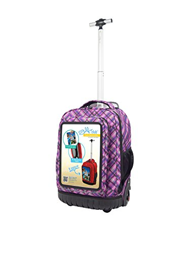 selfie-club-18-inch-rolling-backpack-with-personalized-front-pocket
