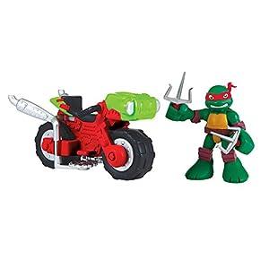 Teenage Mutant Ninja Turtles Pre-Cool Half Shell Heroes Raphael with Mini Cycle Figure
