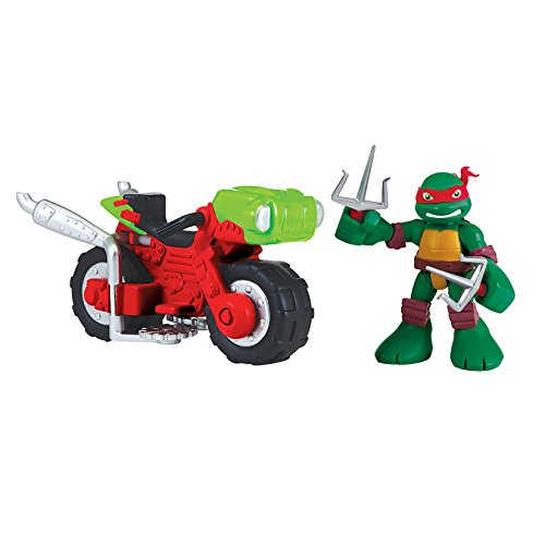 Teenage Mutant Ninja Turtles Pre-Cool Half Shell Heroes Raphael with Mini Cycle Figure Set - 1