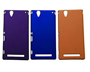 Winsome Deal Hard Back Cover Case for Sony Xperia T2 (Pack Of 3)