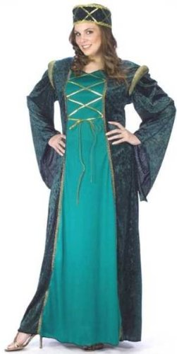 Adult Halloween Costume Medieval Renaissance Womens US Plus (16W-24W)