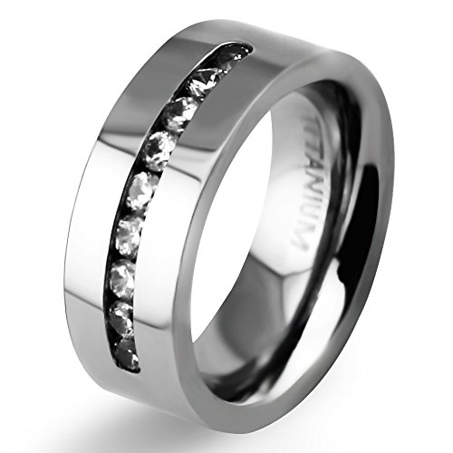 8mm mens womens titanium classic wedding bands with 9