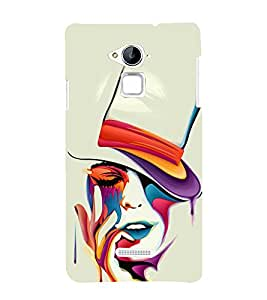 printtech Beautiful Girl Art Back Case Cover for Coolpad Note 3 Lite