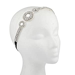 Lux Accessories Bling Goddess Bridal Bride Head wrap