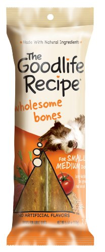 The Goodlife Recipe Wholesome Bones Snacks for Toy/Small Dogs, 5.07-Ounce Bags (Pack of 12)