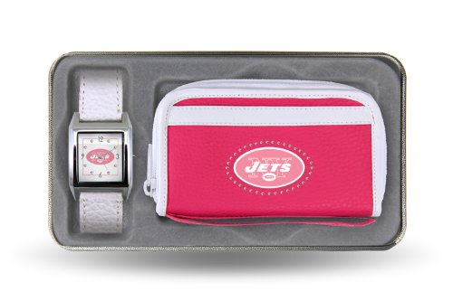 Nfl New York Jets Women'S Watch And Wallet Set