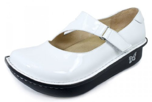 White Patent Leather Alegria Shoes