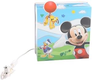 dalber 75858 wandlampe mickey mouse kinderzimmer lampe leuchte beleuchtung. Black Bedroom Furniture Sets. Home Design Ideas