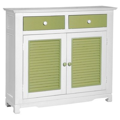 Cheap Sideboard in White & Lime Green (FCO-121-GR)