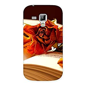 Rose Book Back Case Cover for Galaxy S Duos