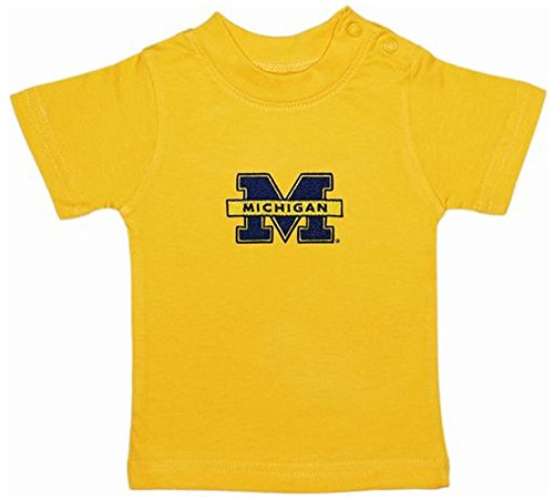 Michigan Wolverines Gold NCAA College Toddler Baby T-Shirt Tee