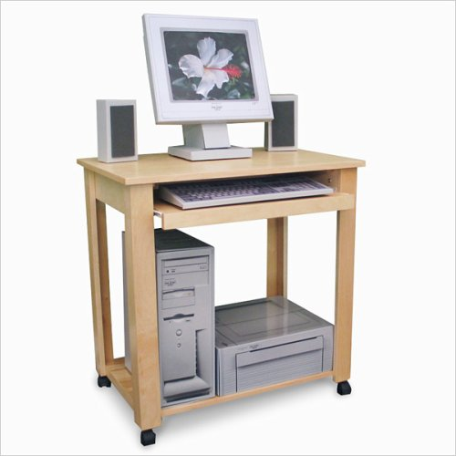 Buy Low Price Comfortable Gothic Cabinet Craft Wood Computer Cart On Wheels With Keyboard Tray (B000U24CIE)