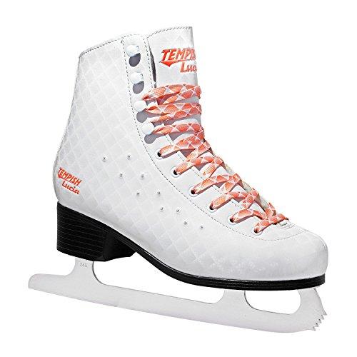 Patins--glace-TEMPISH-LUCIA-T-36-patinage-artistique-blanc-effet-3D-et-strass