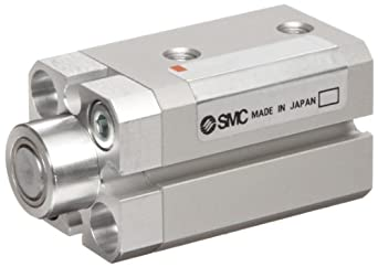 SMC RS Series Aluminum Stopper Air Cylinder, Compact, Double Acting, Through Hole Mounting, Switch Ready, Cushioned