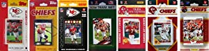 NFL Kansas City Chiefs 7 Different Licensed Trading Card Team Sets by C&I Collectables