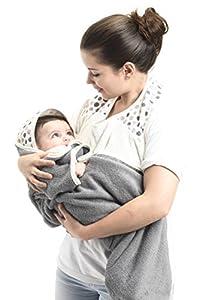 Baby to Love 300852 - Capa de baño para bebé, color blanco y gris - BebeHogar.com