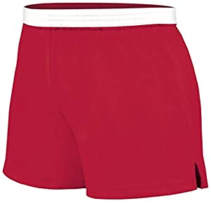 Soffe Juniors Athletic Short, Red, Medium