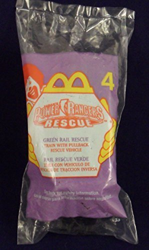 McDonalds - POWER RANGERS RESCUE #4 - Green Rail Rescue (Train with Pullback Rescue Vehicle), 2000 - 1