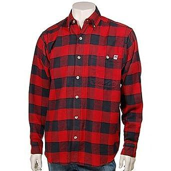 farmall flannel shirt l s red black 2x tall