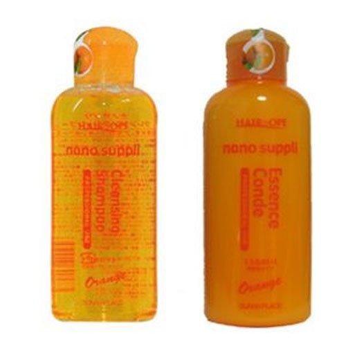 2点set オレンジシャンプー 120ml+エッセンスコンデ 120ml お試しセット サニープレイス ヘアオペ ナノサプリ