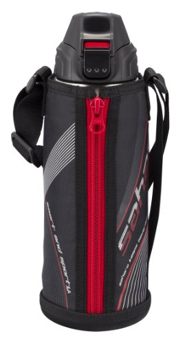 Tiger Water Bottle Stainless Bottle Sahara 2Way Black 0.8L Mbo-C080-K