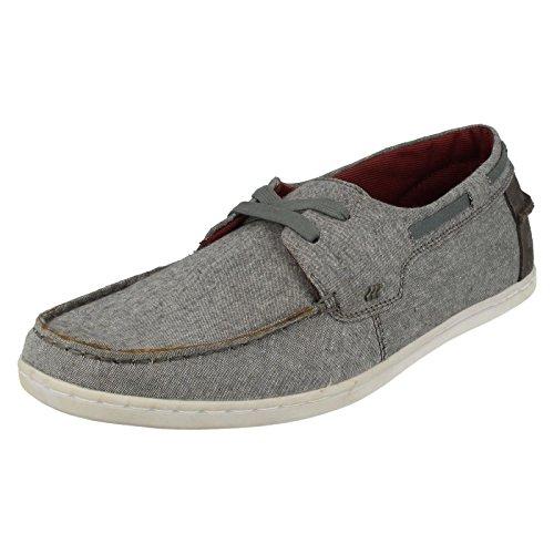 Boxfresh, Scarpe da barca uomo chambrey grey, Grigio (grigio), 41.5