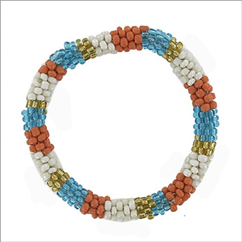Multi Seed Bead Stretch Nepal Bracelet #041637