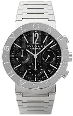Bvlgari Bvlgari Black Dial Chronograph Stainless Steel Automatic Mens Watch BB38BSSDCH-N