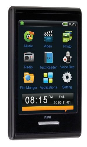 RCA M7204 4 GB Video MP3 Player with 2.8-Inch Touch Screen Display
