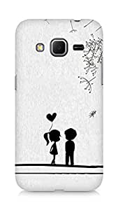 Amez designer printed 3d premium high quality back case cover for Samsung Galaxy Core Prime (Cute Sweet Love Little Couple)