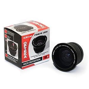 Opteka .35x HD² Super Wide Angle Panoramic Macro Fisheye Lens for Canon EOS 1D, 5D, 7D, 10D, 20D, 30D, 40D, 50D, 60D, 300D, 350D, 400D, 450D, 500D, 550D, 600D, 1000D & 1100D Digital SLR Cameras