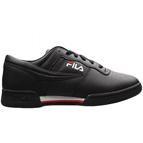 Fila Men's Original Fitness Fashion Sneaker, Black/White/Red, 10 M US