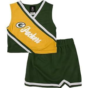 Green Bay Packers Toddler 2 Piece Cheerleader Set