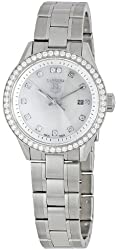 """TAG Heuer Women's WV1413.BA0793 """"Carrera"""" Stainless Steel and Diamond Watch"""