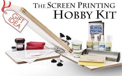 The Screen Printing Hobby Kit, a complete silkscreening package, silk screen t shirts!