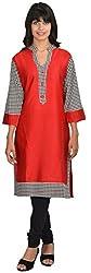 Goodyygoods Women's Cotton Regular Fit Kurti (GG 25, Red, X-Large)