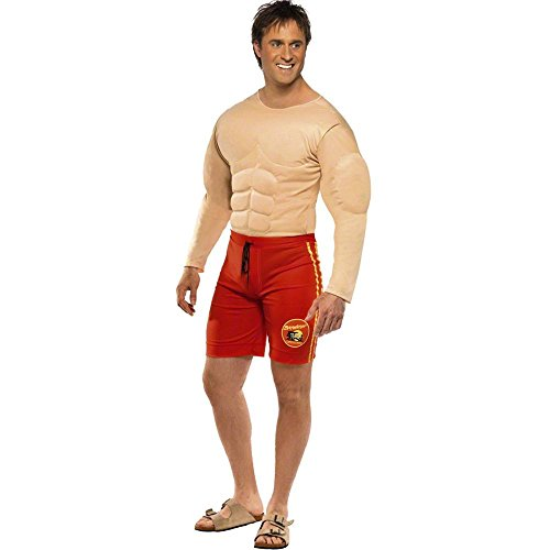 Men's Baywatch Muscle Chest Lifeguard Costume