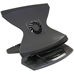 Xbrand 360 Height Adjustable Laptop Stand with Cooling Fan (Black)