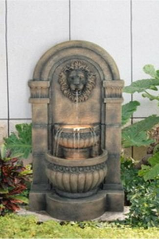 Large Lion Waterfall Water Feature