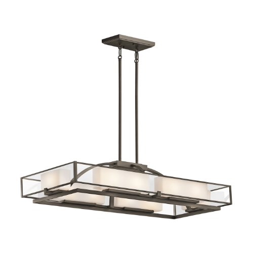 Kichler Lighting 42825Oz 10 Light Isola Rectangular Chandelier, Olde Bronze