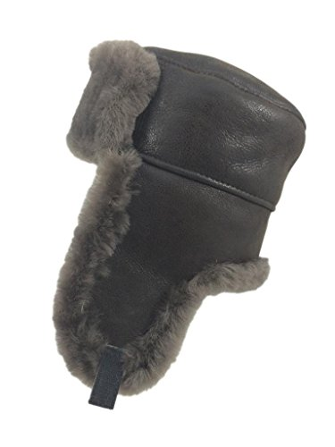 Zavelio Men's Shearling Sheepskin Trapper Russian Hat XX-Large Cashmere