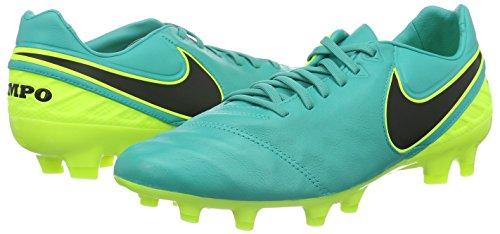 Nike Herren Tiempo Legacy II FG Fußballschuhe, Verde (Clear Jade / Black-Volt), 45 EU -
