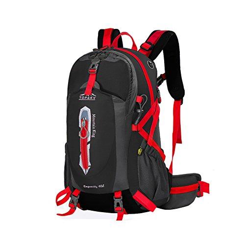 Outdoor sac à dos d'alpinisme / randonnée sac de Voyage multifonction-noir 40L