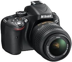 """Nikon D5100 - Cámara réflex digital de 16.2 Mp (pantalla articulada 3"""", estabilizador óptico, vídeo Full HD), color negro - kit con objetivo AF-S DX 18-55mm VR f/3.5 [importado]"""
