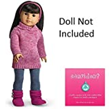 American Girl Cozy Sweater Outfit for Dolls + Charm