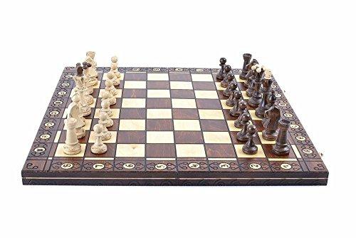 Wegiel Chess Set - Consul Chess Pieces and Board - European Wooden Handmade Game 1