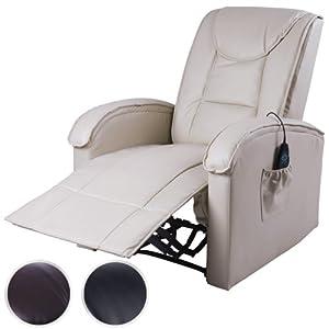 Miadomodo® FSSL02 Poltrona beige reclinabile ecopelle massaggiante riscaldata   recensioni dei clienti Valutazione