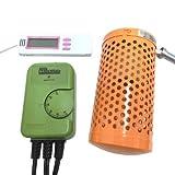 電子サーモスタット+ミニペットヒーター30W+マルチ湿・温度計 3点保温セット