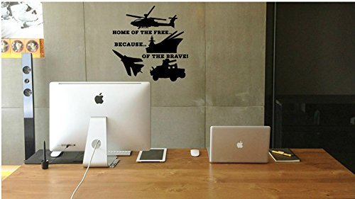 US Veteran-Say Thank You Veterans-Because You Stood Guard For Others-A Unique Veteran Gifts Offer-High Quality Black Vinyl Wall Decal-Made In The USA-Men And Women All American US Military Veterans
